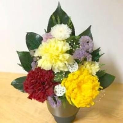 プリザーブドフラワー 仏花一対(花器付)