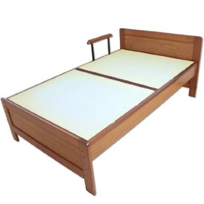 畳ベッド セミダブルベッド 手すり付き 介護ベッド い草 ブラウン 11519011