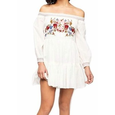 Free People フリーピープル ファッション ドレス Free People Womens Dress White Small S Shift Floral Embroidered