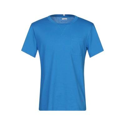 プラスピープル (+) PEOPLE T シャツ アジュールブルー M コットン 100% T シャツ
