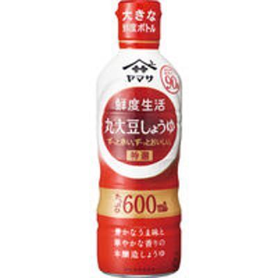 ヤマサ醤油ヤマサ 鮮度生活 特選丸大豆しょうゆ 600ml 鮮度ボトル 1本