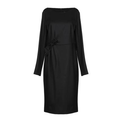 パロッシュ P.A.R.O.S.H. 7分丈ワンピース・ドレス ブラック S バージンウール 95% / ポリウレタン 5% 7分丈ワンピース・ドレス