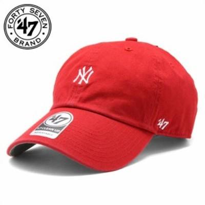フォーティーセブンブランド 47 Brand CLEAN UPキャップ YANKEES BASERUNNER '47 CLEAN UP RED