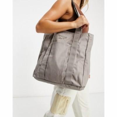 リーボック Reebok レディース トートバッグ キャンバストート バッグ Logo Canvas Tote Bag In Beige ベージュ