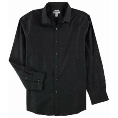 ファッション ドレス Bar III Mens Dress Shirt Black Size Small S 14-14 1/2 Slim Fit Stretch