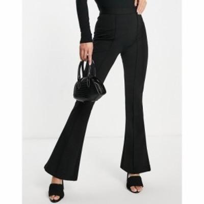 エイソス ASOS DESIGN レディース ボトムス・パンツ ponte flare trouser in black ブラック
