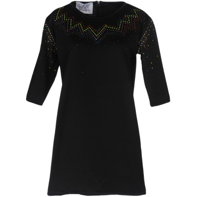 LE FIBÌ ミニワンピース&ドレス ブラック S 100% ポリエステル ミニワンピース&ドレス