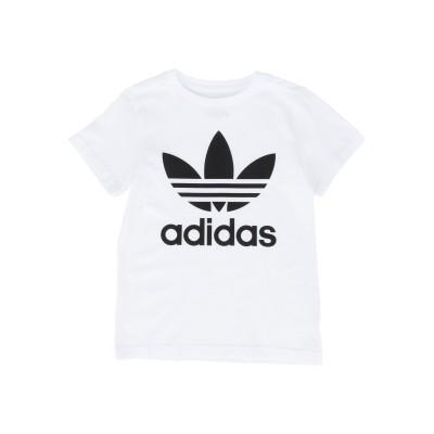 ADIDAS ORIGINALS T シャツ ホワイト 7 コットン 100% T シャツ