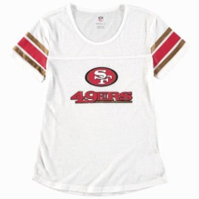 Outerstuff アウタースタッフ スポーツ用品  San Francisco 49ers Girls Youth White Team Pride Burnout Short Sleeve T-