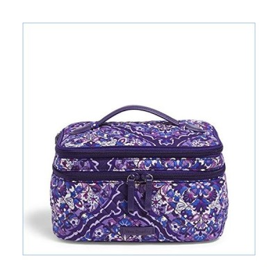 Vera Bradley Signature Cotton Brush Up Cosmetic Makeup Organizer Case, Regal Rosette並行輸入品