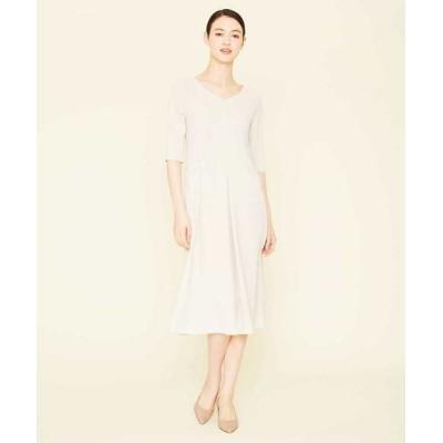 Sybilla/シビラ デザインパターンロングドレス ベージュ 40