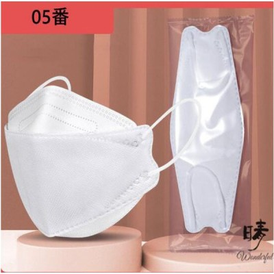 KF94 マスク 子供用 白 4層構造 柳葉型 個包装 50枚入 不織布 息しやすい 韓国風 男の子 女の子 3D 立体マスク