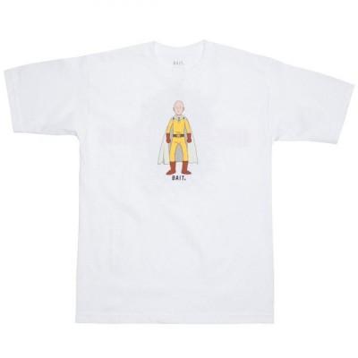 BAIT メンズ Tシャツ トップス x One Punch Man The Hero Tee white