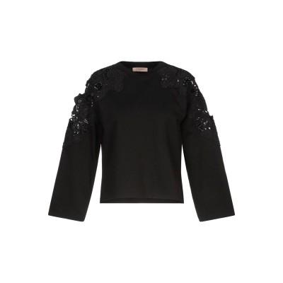 ツインセット シモーナ バルビエリ TWINSET スウェットシャツ ブラック XS コットン 100% / ポリエステル スウェットシャツ