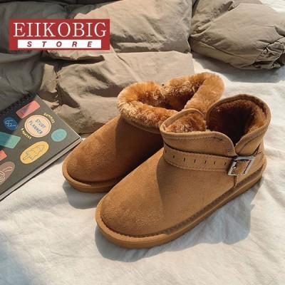 ムートンブーツ ショートブーツ レディース 冬靴   防滑  保温防寒 裏起毛 合わせやすい  ふわふわ オシャレ 軽量 美脚 暖かい