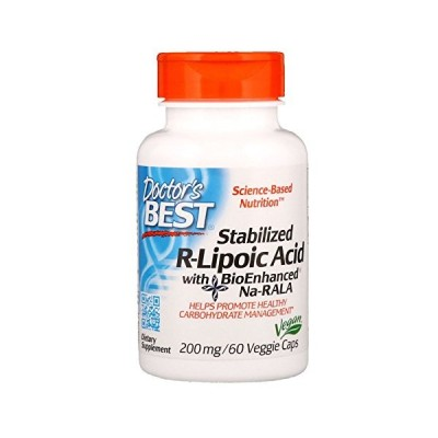 Doctor's Best R-Lipoic リポ酸 200mg 60カプセル [並行輸入品]