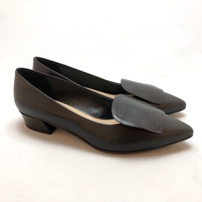 FABIO RUSCONI ファビオルスコーニ パンプス ローヒール 靴 90icf91027bl