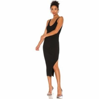 ヘルムート ラング Helmut Lang レディース ワンピース タンクドレス ワンピース・ドレス Rib Tank Dress Black