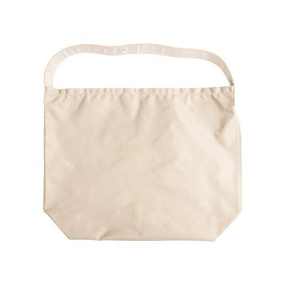[ラフィカロ] エコバッグ お買い物袋 折りたたみ トートバッグ コンパクト ナイロン 持ち手 本革 メンズ レディース アイボリー