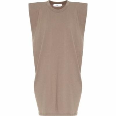 フランキー ショップ Frankie Shop レディース ワンピース ワンピース・ドレス Tina Cotton-Jersey Minidress Mocha