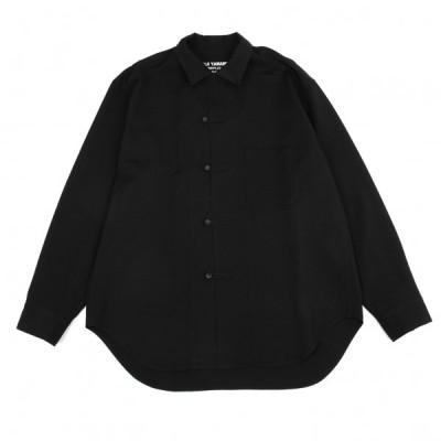 ヨウジヤマモト プールオムYohji Yamamoto POUR HOMME REPLICA 1986SSレプリカウールギャバチャイナシャツ 黒3 【メンズ】