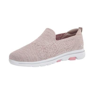 Skechers womens Walking Sneaker, Natural/Multi, 6 US