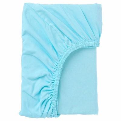IKEA イケア ボックスシーツ ブルー 青 80x130cm n20465282 LEN レーン