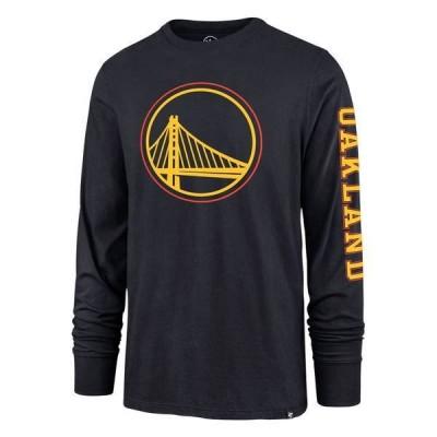 フォーティーセブン メンズ Tシャツ トップス '47 Men's 2020-21 City Edition Golden State Warriors Navy Rival Long Sleeve T-Shirt