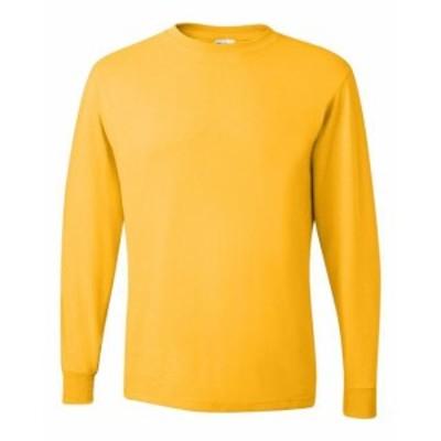 ファッション トップス Jerzees Mens 5.6 oz. 50/50 Heavyweight Blend Long-Sleeve T-Shirt 29L S-3XL
