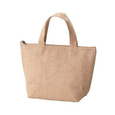 ベーシックスタンダード 天然素材 ジュート 麻 無地 バッグ 保冷バッグ M (ランチクーラーバッグ (保冷バッグ Medium)