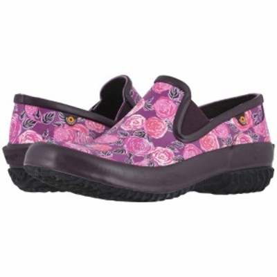 ボグス Bogs レディース スリッポン・フラット シューズ・靴 Patch Slip-On Water Rose Plum Multi