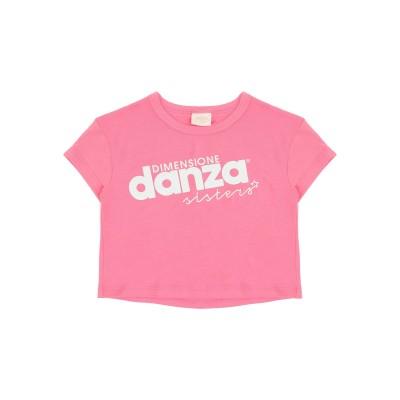 DIMENSIONE DANZA SISTERS T シャツ フューシャ 3 コットン 48% / ポリエステル 47% / ポリウレタン 5% T