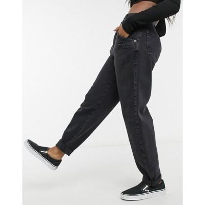 プルアンドベアー レディース デニムパンツ ボトムス Pull&Bear slouch fit jeans in black