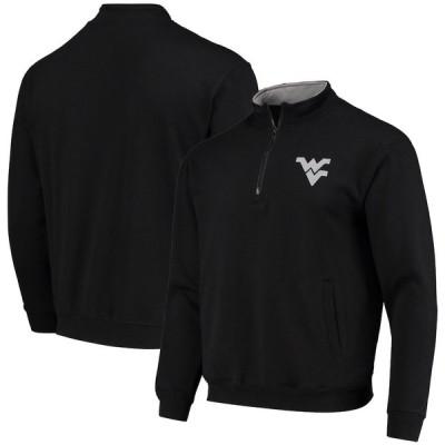 """メンズ ジャケット """"West Virginia Mountaineers"""" Colosseum Tortugas Logo Quarter-Zip Jacket - Black"""