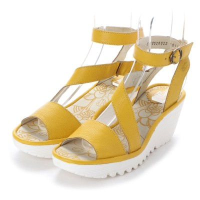 ヨーロッパコンフォートシューズ EU Comfort Shoes FLYLONDON サンダルパンプス(500.526) (イエロー/ホワイト)