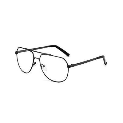 海外限定 JIM HALO Blue Light Blocking Computer Glasses Reduce Eye Strain Metal Aviator Frame Glasses Men Women Gunmetal