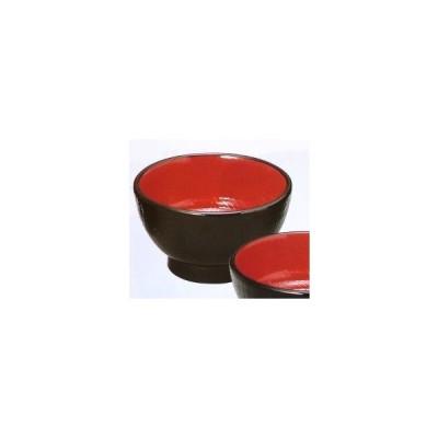 丼 長寿木目丼 黒内朱(中) 耐熱ABS樹脂 食器洗浄機対応 f6-273-2