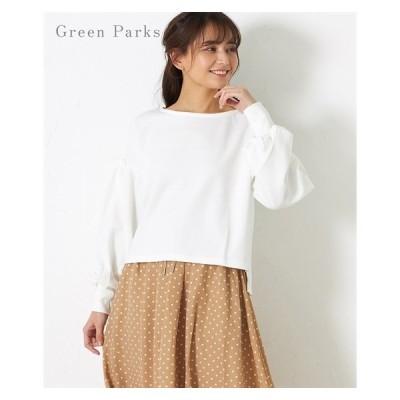 Tシャツ カットソー レディース Green Parks W closet ボリューム スリーブ プルオーバー ニッセン