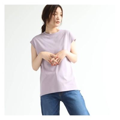【オゾック/OZOC】 【洗える】GIZAコットンフレンチTシャツ