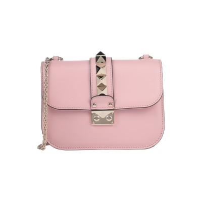 VALENTINO GARAVANI メッセンジャーバッグ ピンク 革 メッセンジャーバッグ
