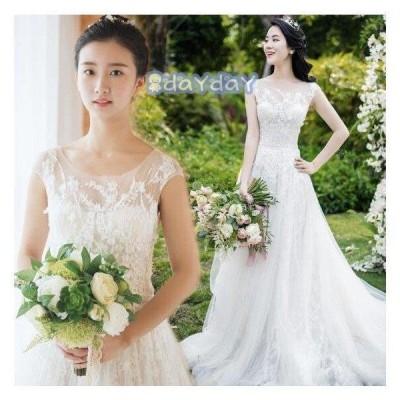 ウェディングドレス 結婚式 花嫁  プリンセスドレス  白ドレス  ロングドレス  披露宴