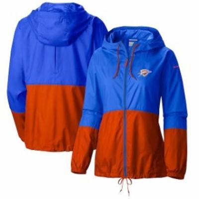 Columbia コロンビア スポーツ用品  Columbia Oklahoma City Thunder Womens Blue Flash Forward Full-Zip Windbreaker Jacket