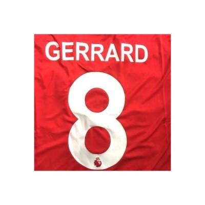 子供用 K010 リバプール GERRARD*8 ジェラード 赤 20 ゲームシャツ パンツ付 ジュニア ユニフォーム