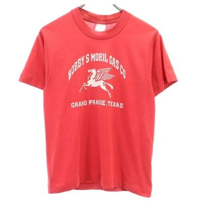 フルーツオブザルーム 90s USA製 プリント 半袖 Tシャツ 14-16 レッド FRUIT OF THE LOOM レディース メール便可 古着 200417