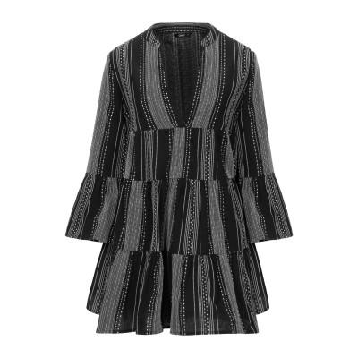 ONLY ミニワンピース&ドレス ブラック 38 コットン 100% ミニワンピース&ドレス
