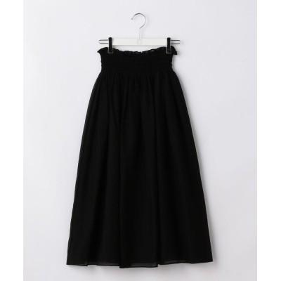 【ノーリーズ】 カールマイヤーゴムシャーリングスカート レディース ブラック 38 NOLLEY'S