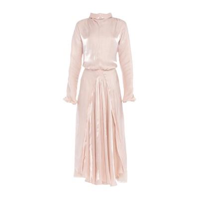プラダ PRADA 7分丈ワンピース・ドレス ライトピンク 42 ポリエステル 100% / シルク 7分丈ワンピース・ドレス