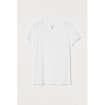 H&M - ジャージーTシャツ - ホワイト