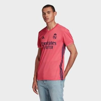 アディダス メンズ Tシャツ adidas Real Madrid Away Soccer Jersey 半袖 レアルマドリード ジャージー Spring Pink