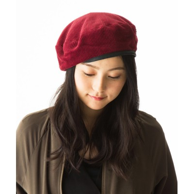 QUEENHEAD / コーデュロイ パイピングベレー帽 WOMEN 帽子 > ハンチング/ベレー帽
